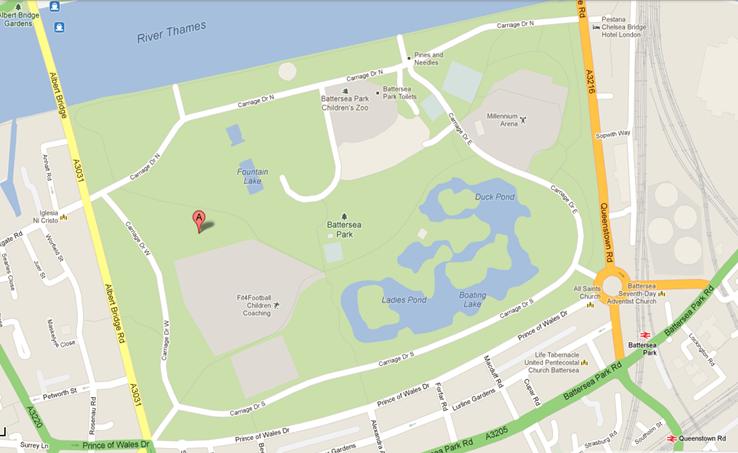 Image result for battersea park map