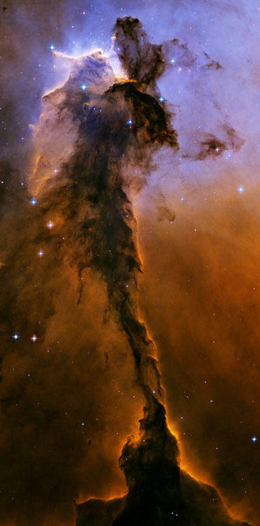 Tower of gas in the Eagle Nebula. Photographed by the Hubble Space Telescope, 2005 (NASA)