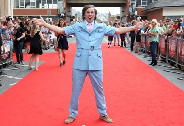 Steve Coogan as Alan Partridge at the premiere in Norwich. Photograph: The Guardian