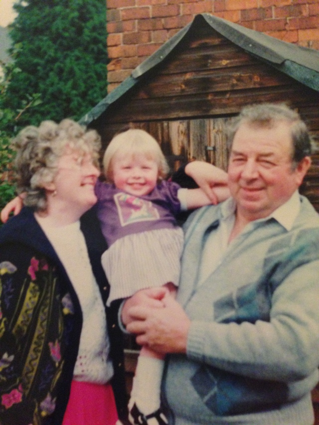 My grandma, me and my grandad