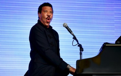 Lionel Richie performs on the Pyramid stage at Worthy Farm in Somerset during the Glastonbury Festival